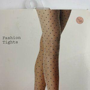 Women's Sheer Polka Dot Tights - A New Day L/XL